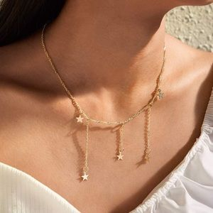 3/ $30 Falling Star Constellation Charm Necklace